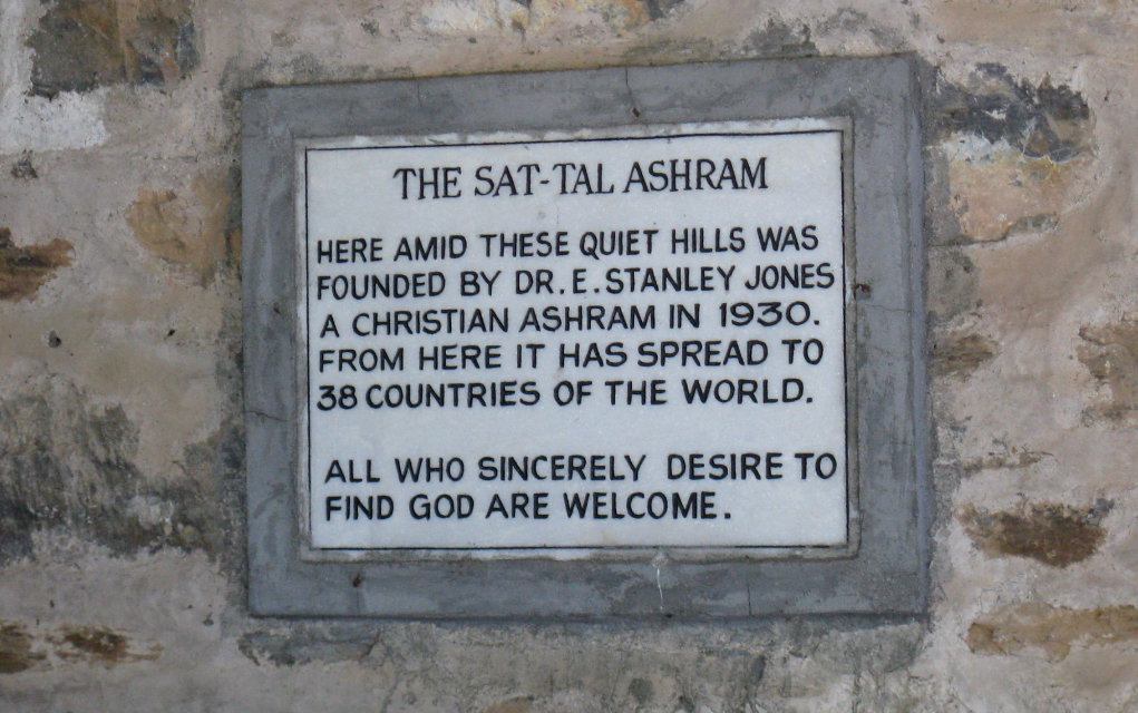 The Sat-Tal Ashram founded by E Stanley Jones sign